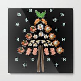 Sushi Christmas Tree Metal Print