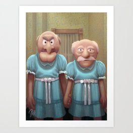 Muppet Maniac - Statler & Waldorf as the Grady Twins Art Print
