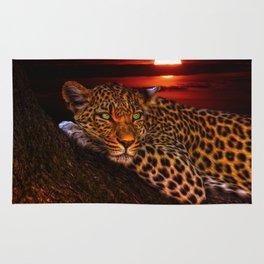 Leopard At Sunset Rug