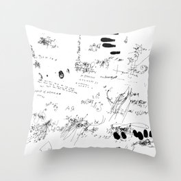 Night drawings Throw Pillow