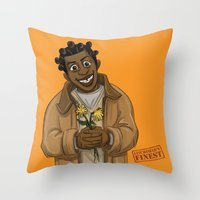 oitnb Throw Pillows featuring Crazy Eyes OITNB by StephDere