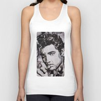 elvis Tank Tops featuring Elvis by Ross Collins Artist