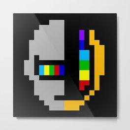 Daft minimal pixel Metal Print