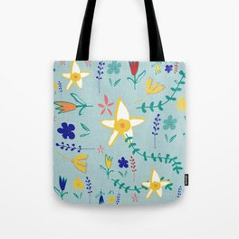 Floral The Tortoise and the Hare is one of Aesop Fables green Tote Bag