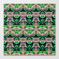 bamboo Canvas Prints featuring Bamboo by Zandonai Pattern Designs