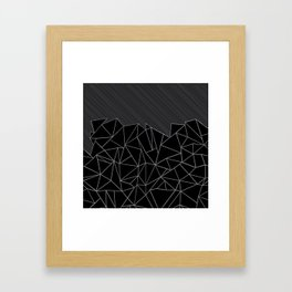 Ab Lines 45 Grey and Black Framed Art Print