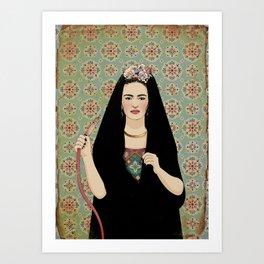 Frida & the Shisha Art Print