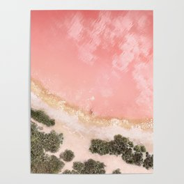 iOS 11 Rose Gold iPad background Poster
