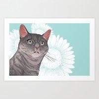 Sherlock the Cat Art Print