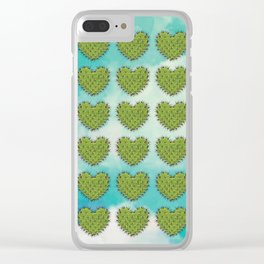 Cactus in the Heart Clear iPhone Case