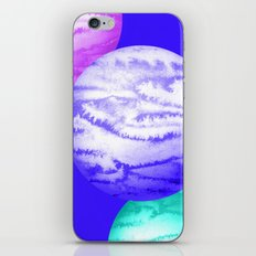 Illustration of watercolor round planet iPhone & iPod Skin