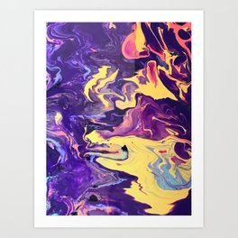 Pooling Paint 3 Art Print