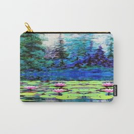 BLUE SPRUCE GREEN LILY PADS LAKE ART Carry-All Pouch