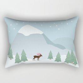 Winter in the mountains Rectangular Pillow