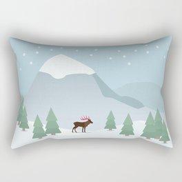 Winter in the mountains Rectangular Pillow