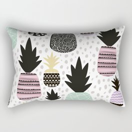 Summer pineapples in pastel color pop Rectangular Pillow