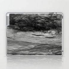 Black Tempest - Abtract Ocean Sea Pattern in Black And White Laptop & iPad Skin