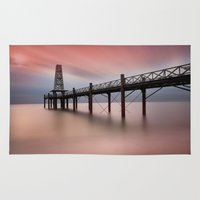 wooden Area & Throw Rugs featuring  Wooden Pier by davehare