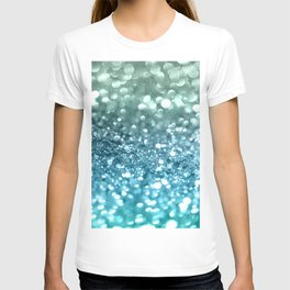 Seafoam Aqua Ocean MERMAID Girls Glitter #4 #shiny #decor #art #society6 T-shirt