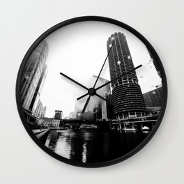 CHICAGO RAIN Wall Clock