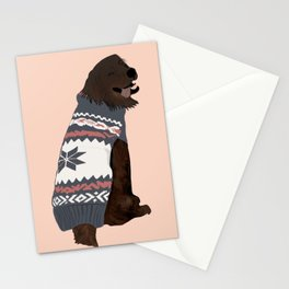 Brown lab love pup Stationery Cards
