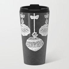 Retro Christmas Ornaments Chalkboard Metal Travel Mug