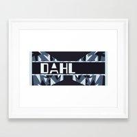 roald dahl Framed Art Prints featuring Dahl secondary by Bro Johnson