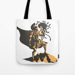 perseus holding the head of the medusa Tote Bag