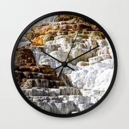 Yellowstone Salt Flat Wall Clock