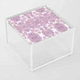 Shibori Rose Crepe De Chine Acrylic Box