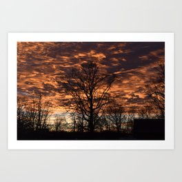 Sky on Fire in Tennessee Art Print