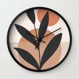 Abstract Minimal -Plant 7 Wall Clock