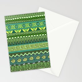 Yzor pattern 009 green-blue summer Stationery Cards