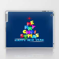 Merry Christmas Happy New Year Laptop & iPad Skin