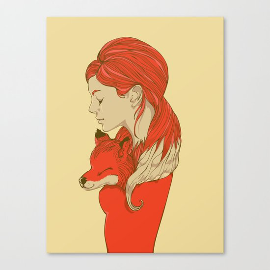 Lady Fox Canvas Print