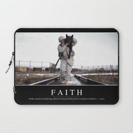 Faith: Inspirational Quote and Motivational Poster Laptop Sleeve
