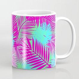Neon Pink & Blue Tropical Print Coffee Mug