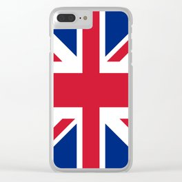 red white and blue trendy london fashion UK flag union jack Clear iPhone Case