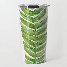 Watercolor Fern Leaf Travel Mug