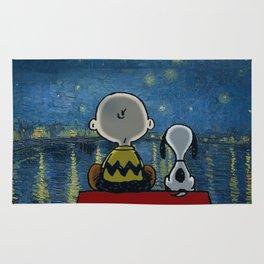 Snoopy starry night Rug