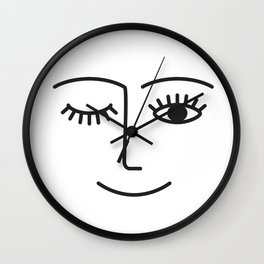 Wink Wall Clock