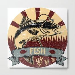 Fish Propaganda | Fishing Angler Lake Boat Metal Print