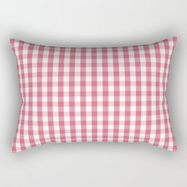 Nantucket Red Gingham Check Plaid Pattern Rectangular Pillow