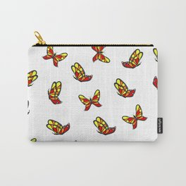 Multicolored butterflys Carry-All Pouch