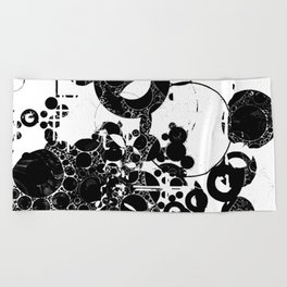 Black and white Pattern Abstract Beach Towel