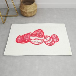 50. Happy Easter Holiday - Henna Egg Rug