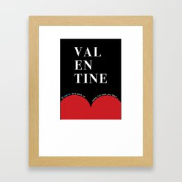 Valentine 's Day Graphic 2019 Framed Art Print