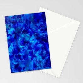 Cobalt Facets Stationery Cards