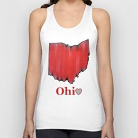ohio state Tank Tops featuring Ohio State Love by Fischer Fine Arts