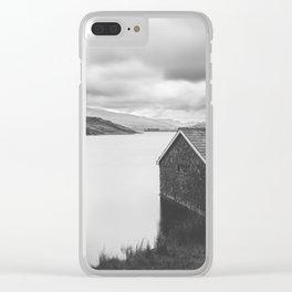 Llyn  Ogwen Boathouse Clear iPhone Case